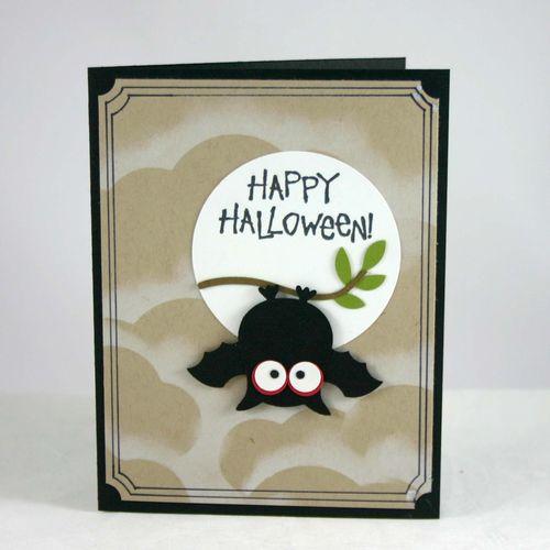 Happy halloween bat card - dana newsom