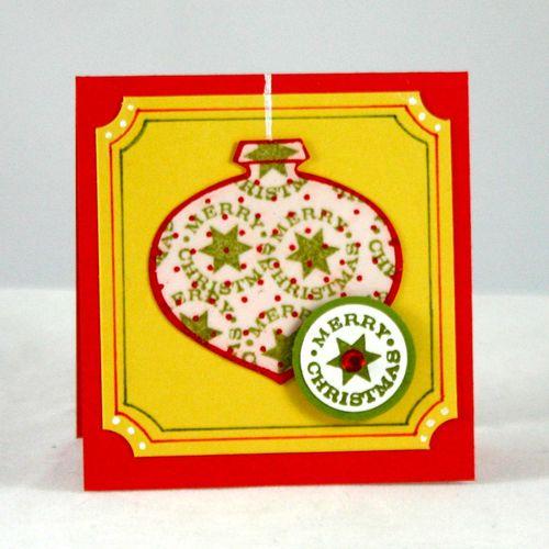 Merry christmas ornament card - dana newsom