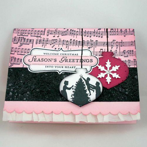 Pink ornament card - dana newsom