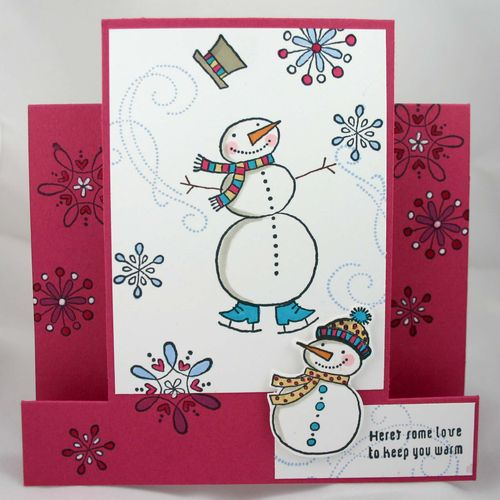 Some love to keep you warm funky fold card - dana newsom