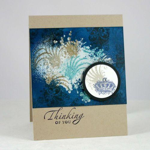 Thinking of you angle card - dana newosm