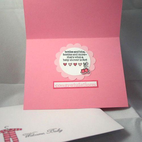 Welcome baby card inside  - dana newsom