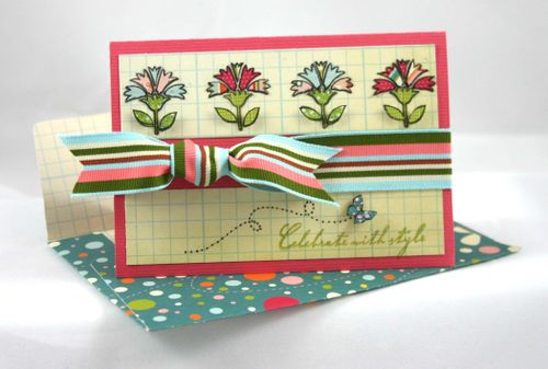 Flower and butterfly card2- by dana newsom