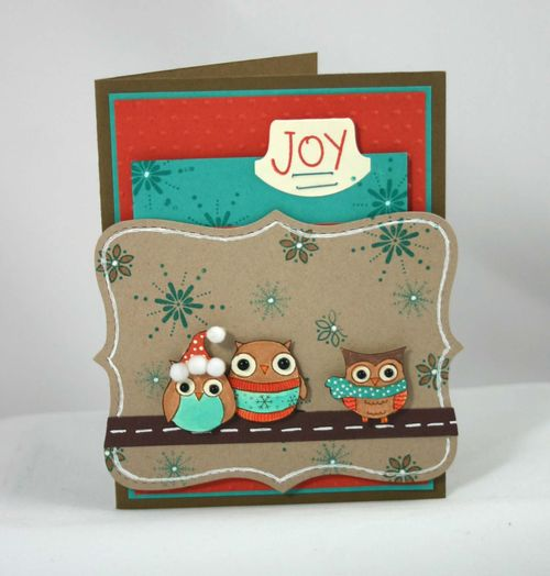 Owl joy card 8 by dana newsom